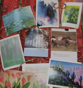 colorful collage of sympathy cards