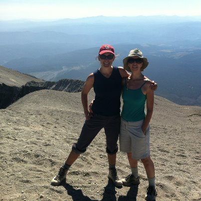 Alison and Colleen atop Mt St Helens