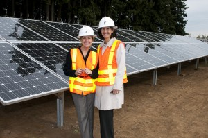 Allison Hamilton at Oregon Solar Highway Project at Baldock